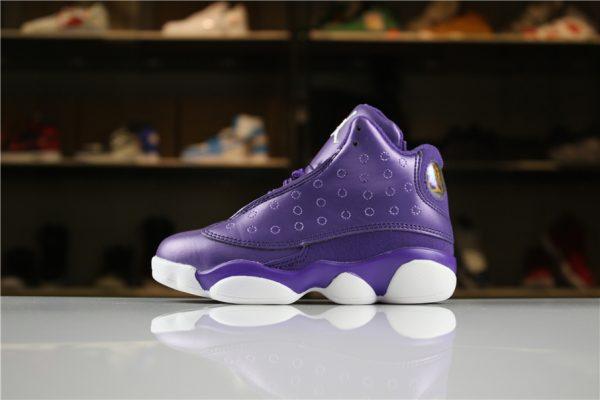 Kid's Air Jordan 13 Night Purple/White