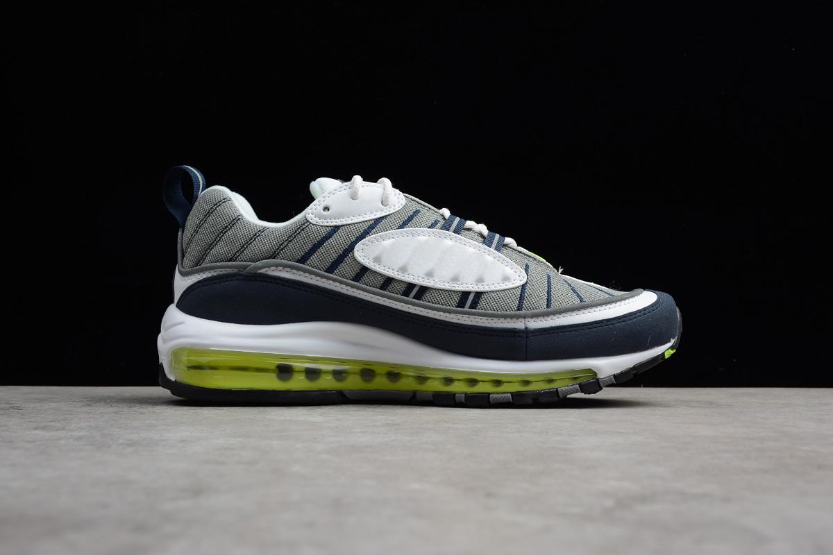 Nike Air Max 98 Og Volt Cool Grey Volt Black Metallic Silver