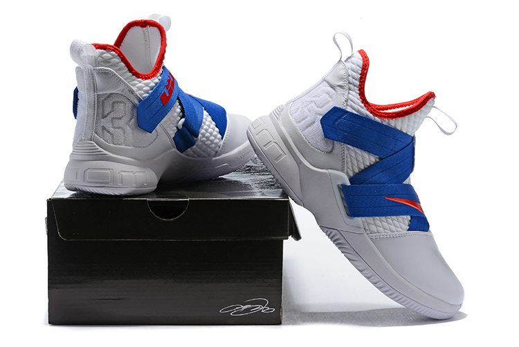 Nike LeBron Soldier 12 White/Blue-Red