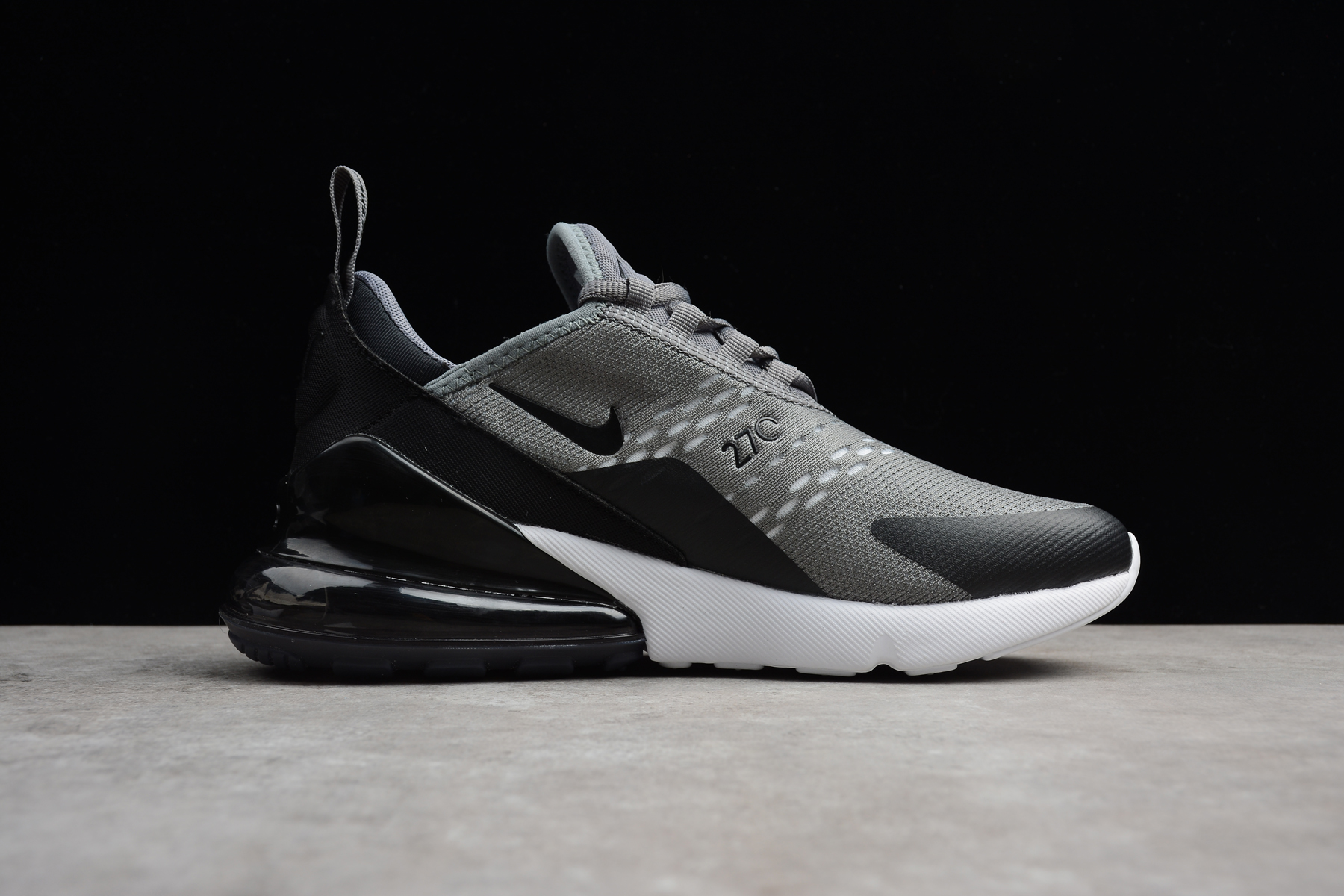 Nike Air Max 270 Grey Black White Men's Size For Sale