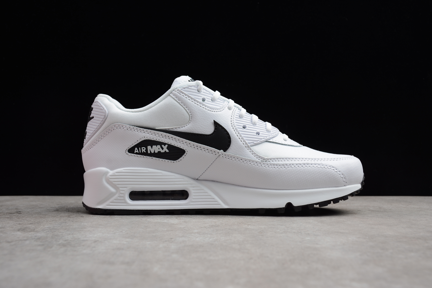Nike Air Max 90 Essential White Black 325213-131 Men's Running Shoes