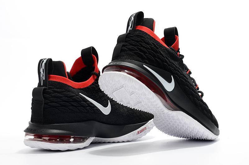 Nike LeBron 15 Low Black White Red Men