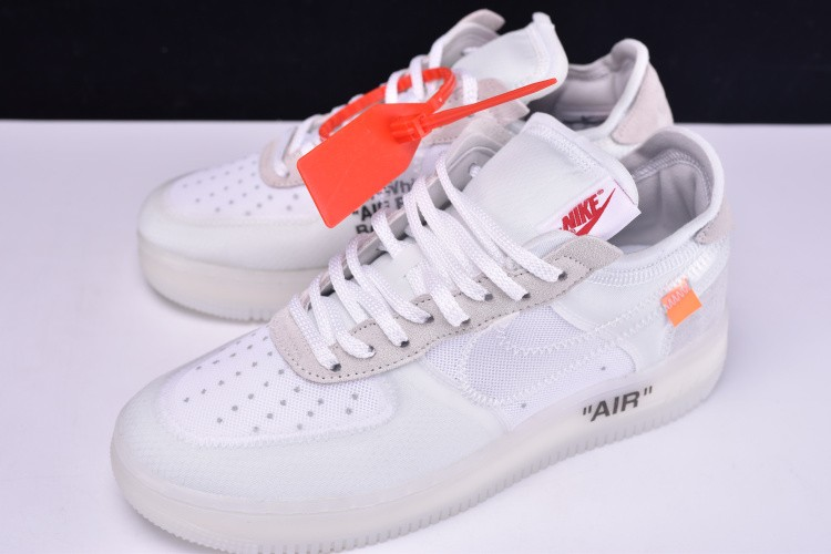 612efae34fd5 2018 Off-White x Nike Air Force 1 Low Ghosting White Sail By Virgil ...