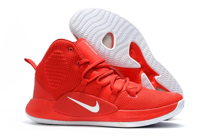 2018 Nike Hyperdunk X University RedWhite Men's Basketball Shoes