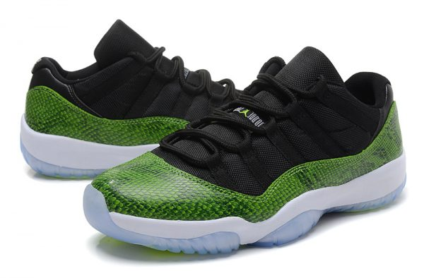 "0154c8586a4 Air Jordan 11 Retro Low ""Green Snakeskin"" Black/Nightshade-White-Volt ..."