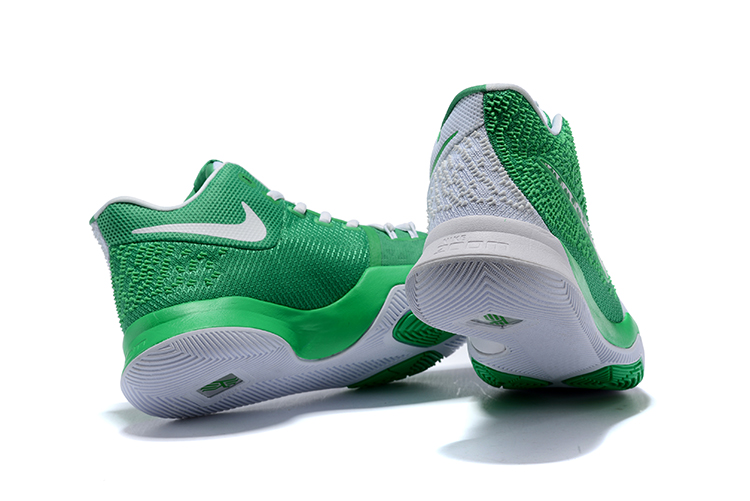 Latest Nike Kyrie 3 Green White Men's