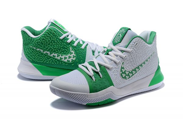 kyrie 3 white green