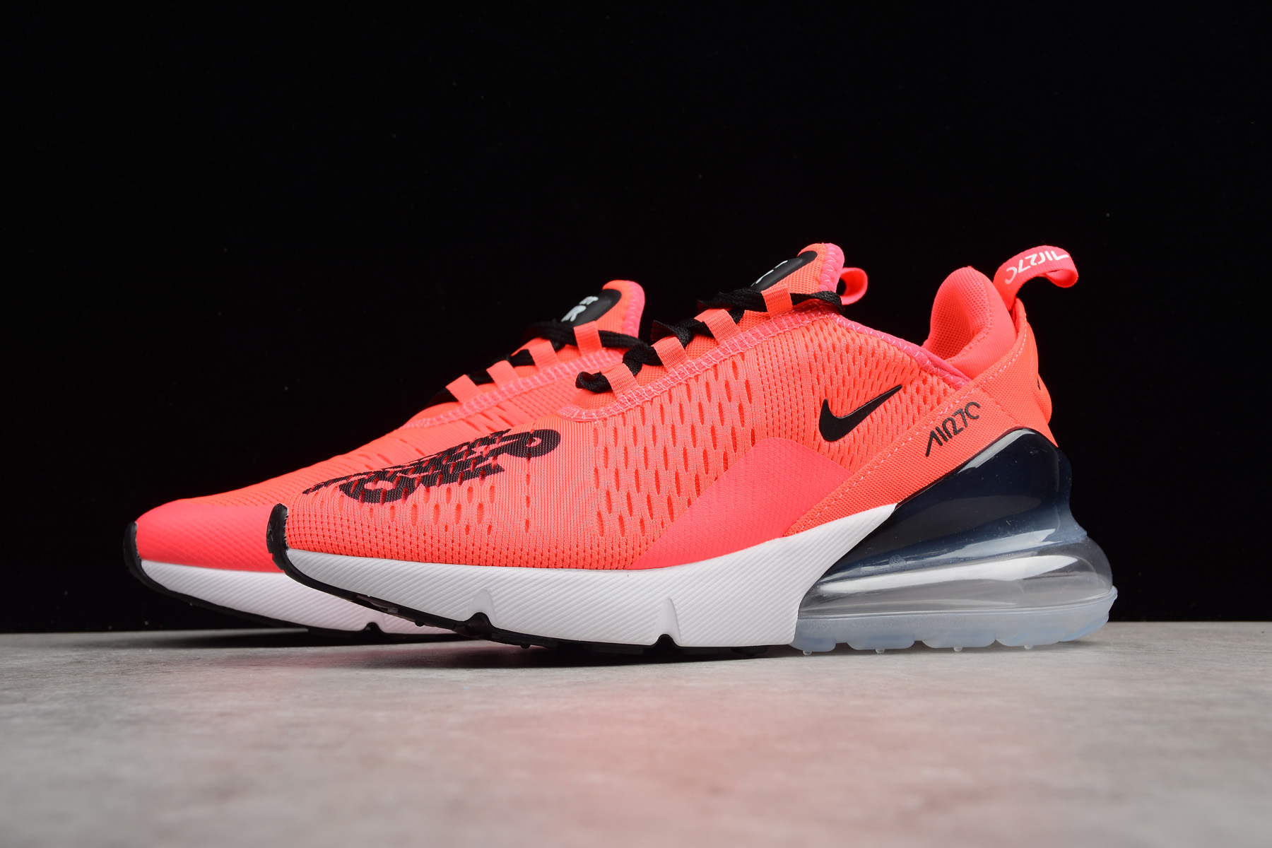 outlet store c6a7f 71df7 NIKEiD Air Max 270 Hyper Pink/Black-White Men's and Women's Size BQ0742-996