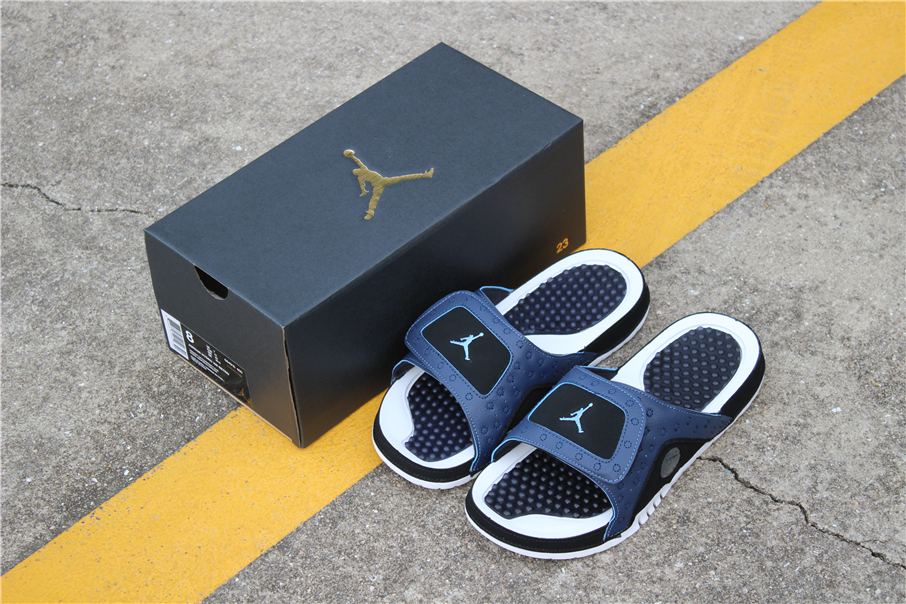more photos 47c42 8a64b New Air Jordan Hydro 13 Retro Sandals Midnight Navy/University Blue-Black  684915-400