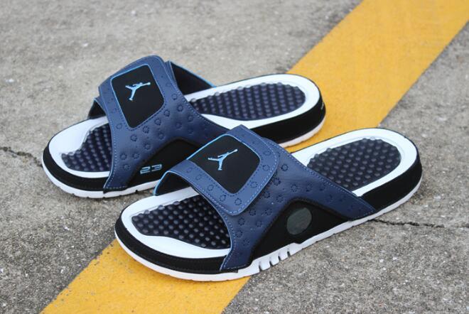 more photos 7b350 b0ffd New Air Jordan Hydro 13 Retro Sandals Midnight Navy/University Blue-Black  684915-400