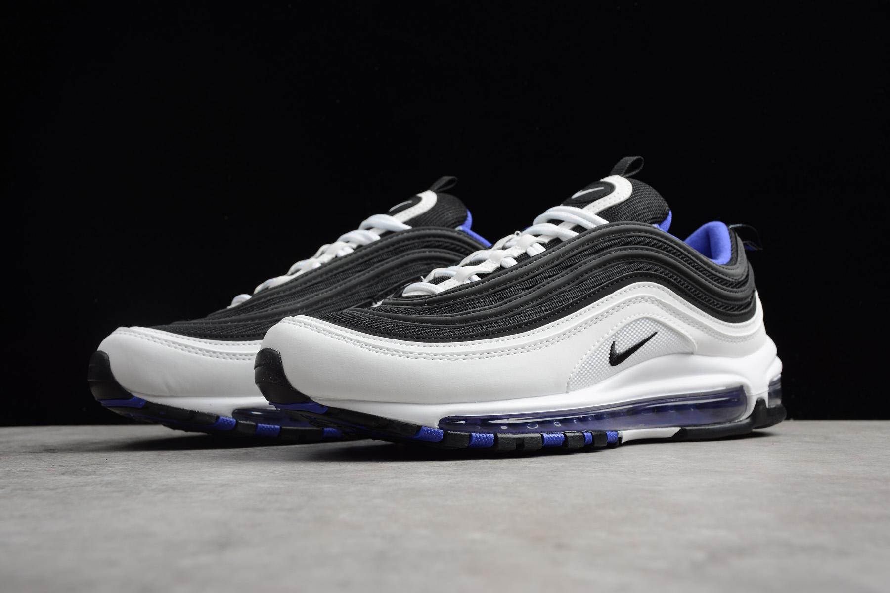 New Nike Air Max 97 White/Black-Persin Violet Men's Size ...