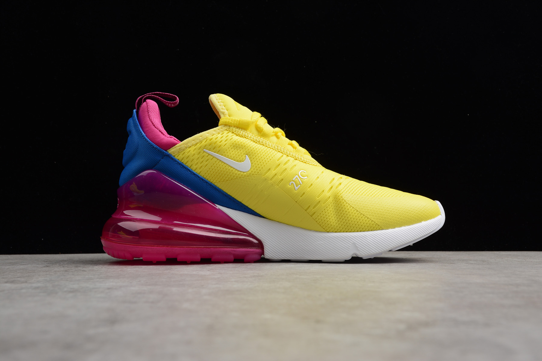 Women S Nike Air Max 270 Bright Lemon Yellow White Racer Blue