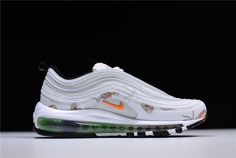 Women S Nike Air Max 97 Butterfly White Orange Shoes Free Shipping
