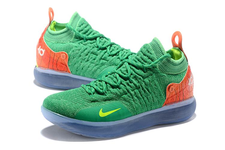 Nike KD 11 Green/Orange-Yellow Men's