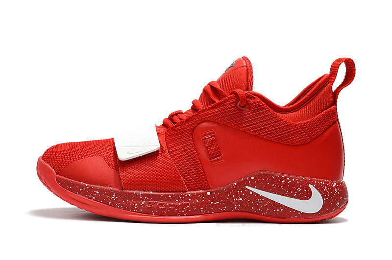 the best attitude f5bf5 bf617 Paul George's Nike PG 2.5 University Red/White Basketball Shoes