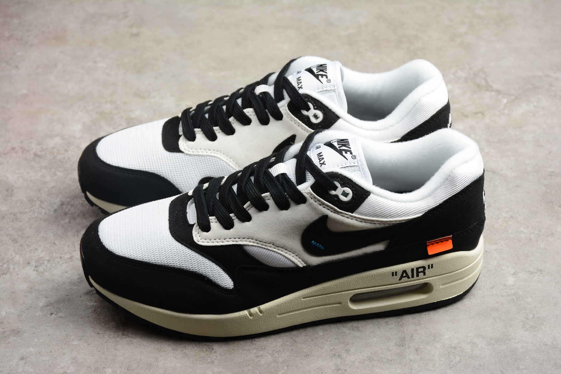 Cheap Off White x Nike Air Max 1 White Black AJ9986 109 For