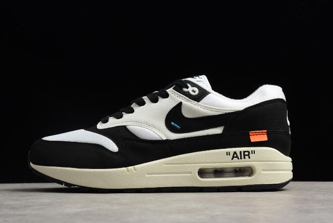 on sale 392b2 47381 2018 Off-White x Nike Air Max 1 White Black Men's and Women's Size  AJ9986-109 For Sale