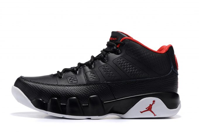 "79855497749520 Air Jordan 9 Retro Low ""Bred"" Black Gym Red-White Men s Size 832822-001"