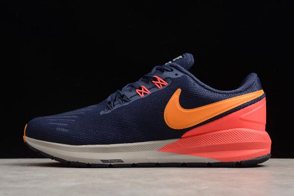 Nike Air Zoom Structure 22 Blackened BlueOrange Peel AA1636-400