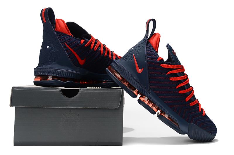 Nike LeBron 16 Navy Blue/University Red