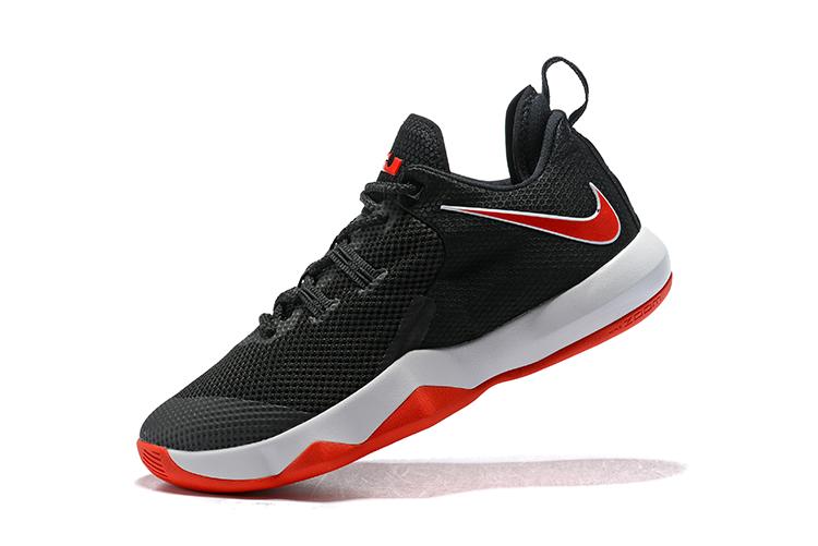 size 40 eac1b 3a6b9 Nike LeBron Ambassador 10 Black/White-University Red LeBron James  Basketball Shoes