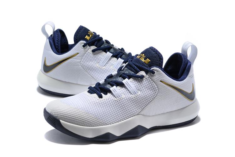 0c23fe10357 Nike LeBron Ambassador 10 White/Midnight Navy-Metallic Gold AH7580-100