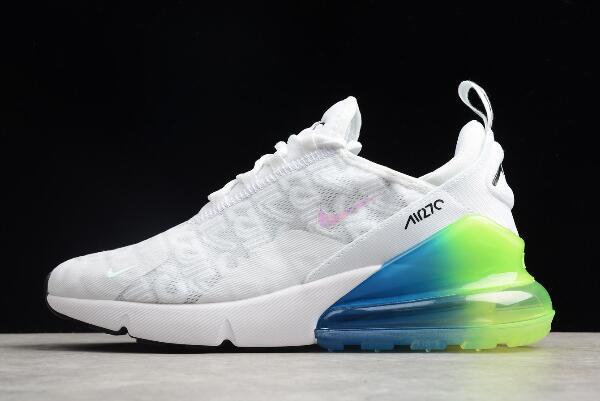 Nike Max 270 White/Explosion Green,Blue,Pink BQ0742,998