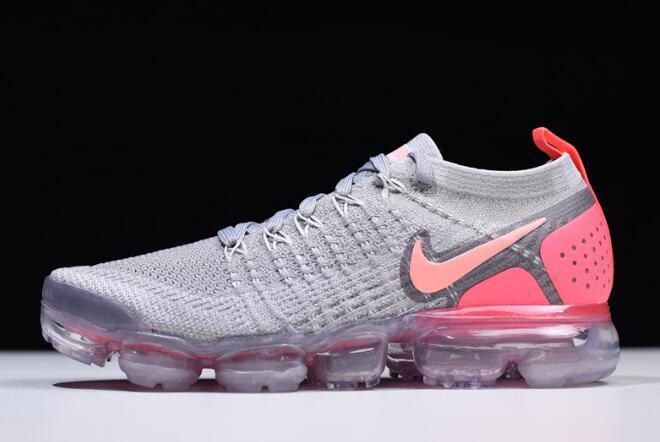 19a46ee6d1b Women s Nike Air VaporMax Flyknit 2 Atmosphere Grey Crimson Pulse 942843-005