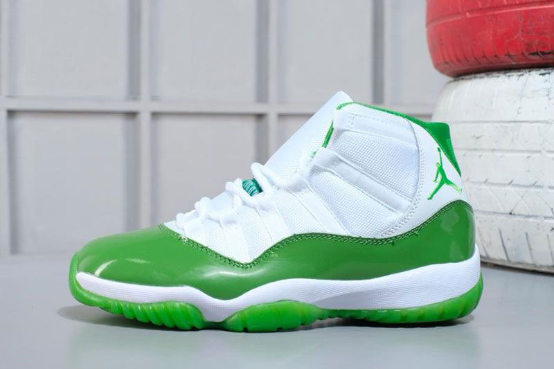 new style 9db31 e8dff 2018 Air Jordan 11 Apple Green/White Shoes M07105634