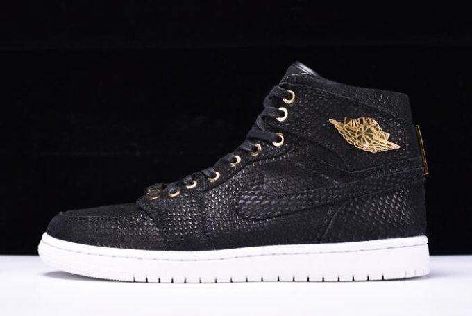"c119ea99e8ba9c Air Jordan 1 Retro High OG ""Pinnacle"" Black Metallic Gold-White 705075-030"