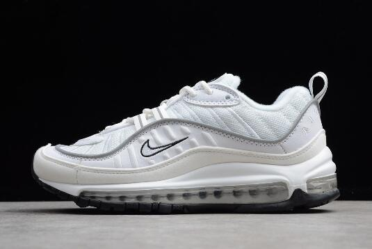 Nike Air Max 98 White Reflect Silver Shoes Best Price AH6799 103