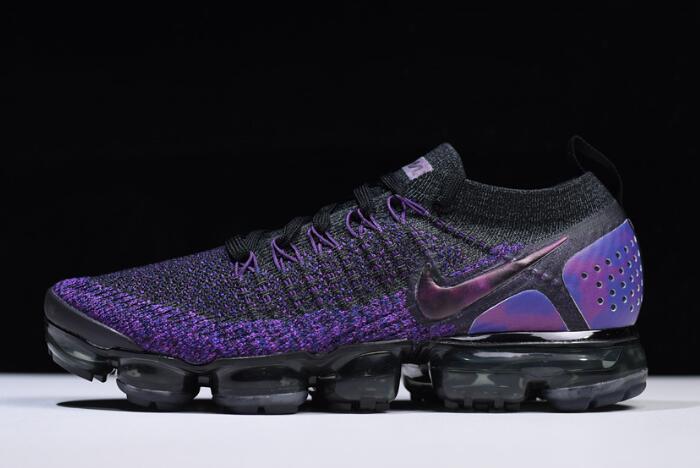 28bd6a16df9bb3 Nike Air VaporMax Flyknit 2.0 Black Night Purple 942842-013