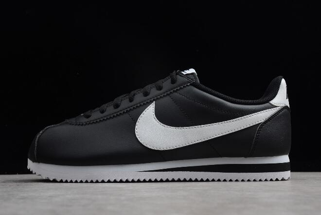 Nike Classic Cortez Leather Black White Men s and Women s Size 807471-010 b2093b725fb