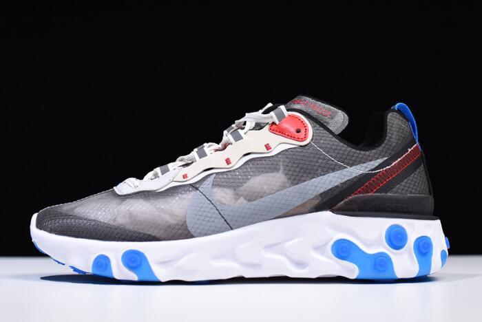 save off 316eb e8e46 Nike React Element 87 Dark Grey Pure Platinum-Photo Blue AQ1090-003