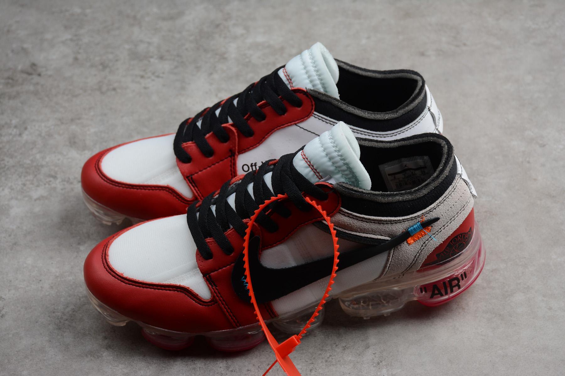 "a2eb24dcb8e3 Off-White x Nike Air VaporMax x Air Jordan 1 ""Chicago"" White Black-Varsity  Red ..."