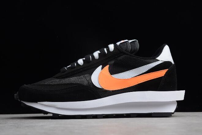 top design best authentic 2018 sneakers Sacai x Nike LDV Waffle Hybrid Black/White-Orange 884691-001