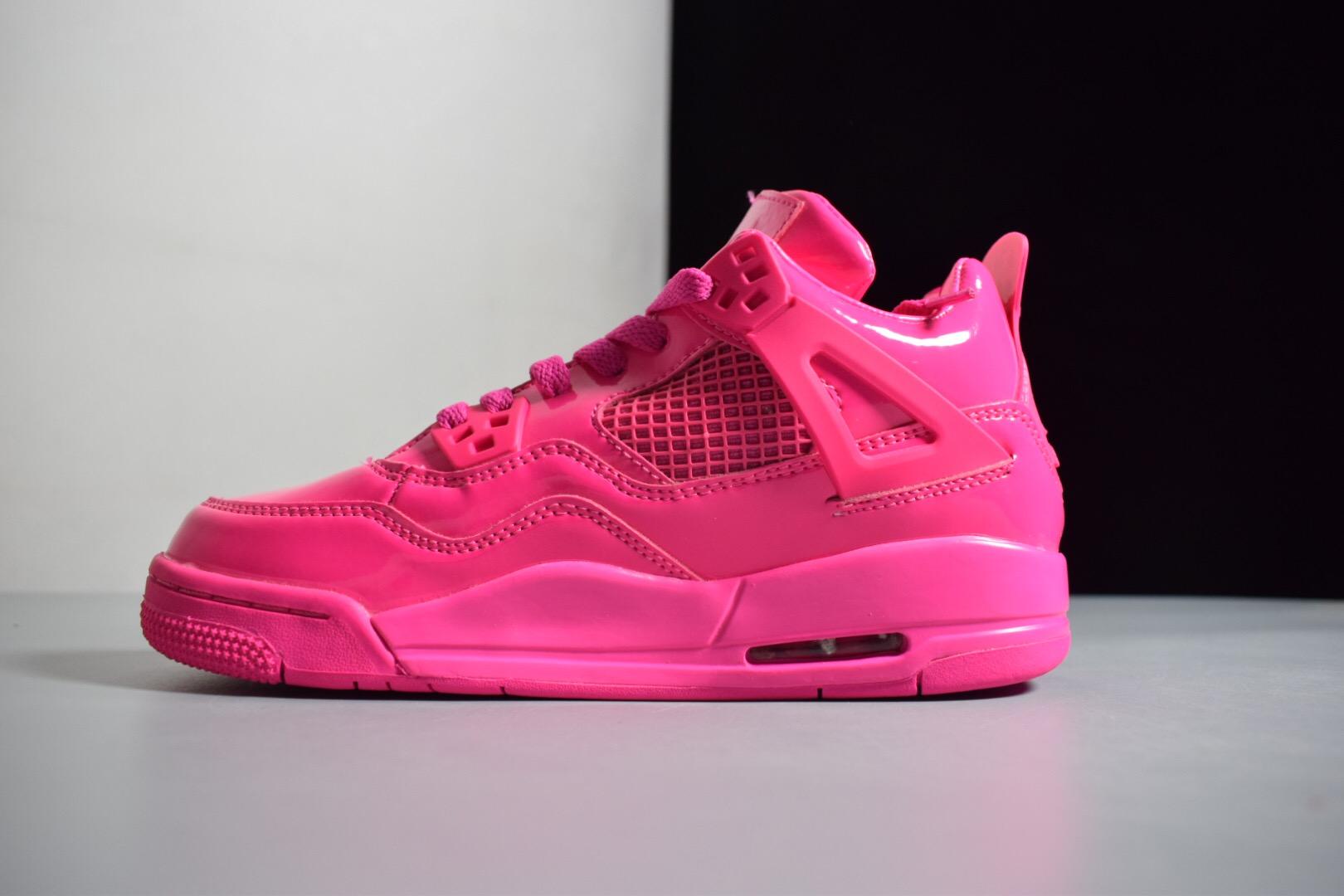 Women s Air Jordan 4 Retro GS 11Lab4 Pink Patent Leather For Sale 68d53476a