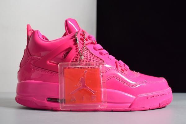 sale retailer 9a430 81bd1 Women s Air Jordan 4 Retro GS 11Lab4 Pink Patent Leather For Sale