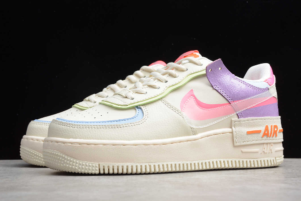 2020 New Nike Wmns Air Force 1 Shadow Beige Pale Ivory Cu3012 164