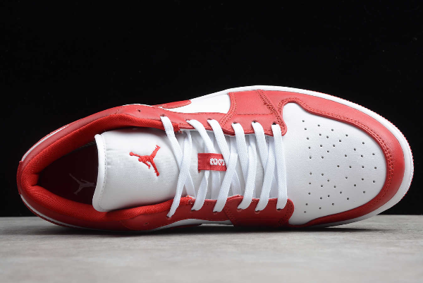 2020 New Air Jordan 1 Low Gym Red White 553558 611 For Sale