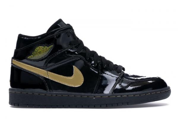 2020 Cheap Air Jordan 1 High OG Black Metallic Gold 555088-032 Shoes For Sale