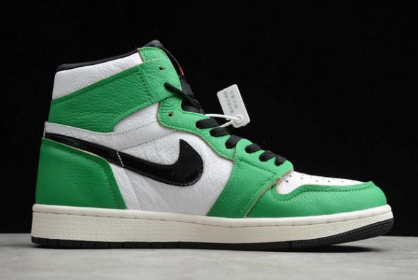 "2020 Air Jordan 1 High OG ""Lucky Green"" Lucky Green/White-Sail-Black DB4612-300-1"