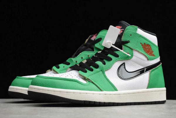 "2020 Air Jordan 1 High OG ""Lucky Green"" Lucky Green/White-Sail-Black DB4612-300-2"