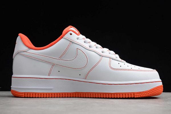 2020 Cheap Nike Air Force 1 Low Rucker Park White/Team Orange-Black CT2585-100 Shoes-1