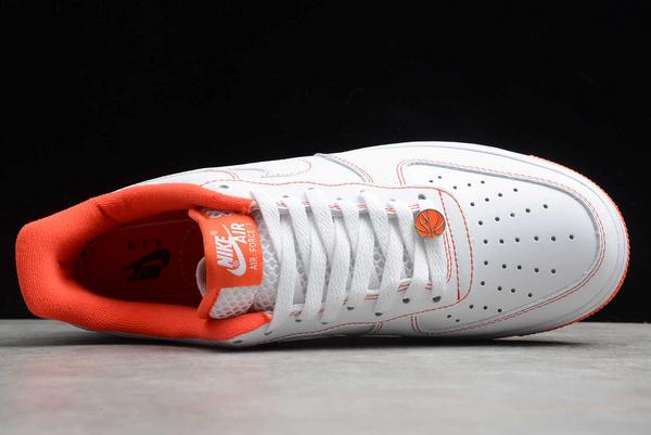 2020 Cheap Nike Air Force 1 Low Rucker Park White/Team Orange-Black CT2585-100 Shoes-3