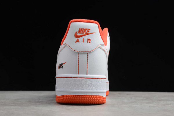 2020 Cheap Nike Air Force 1 Low Rucker Park White/Team Orange-Black CT2585-100 Shoes-4