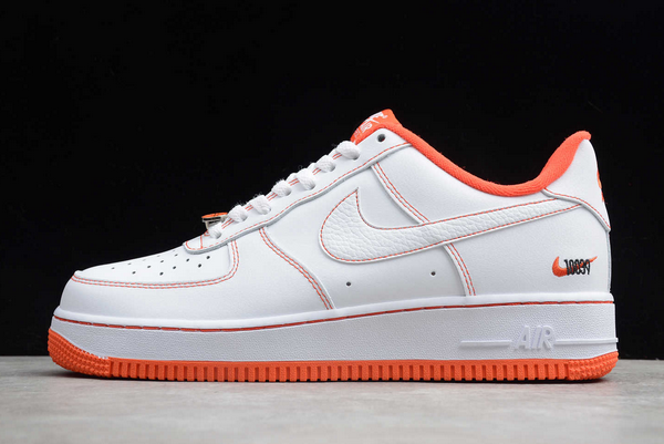 2020 Cheap Nike Air Force 1 Low Rucker Park White/Team Orange-Black CT2585-100 Shoes
