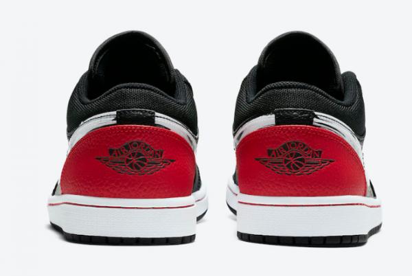 2020 Air Jordan 1 Low Brushstroke Swoosh Black Red DA4659-001 Shoes-3