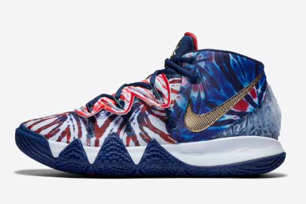 """Nike Kyrie S2 Hybrid """"Tie-Dye"""" Blue Red Shoes CT1971-400 Sale"""