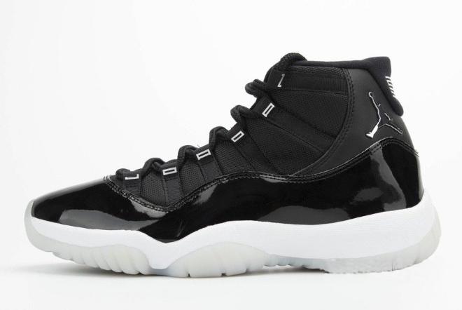 """Air Jordan 11 """"25th Anniversary"""" Black/Clear-White-Metallic Silver CT8012-011"""